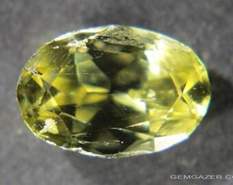 Enstatite, Greenish-yellow faceted, Sri Lanka. 2.21 carats.