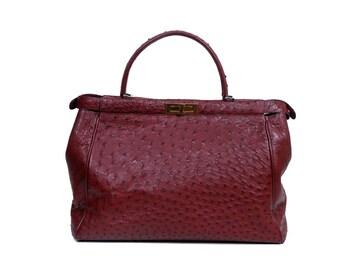 Chiara bag in ostrich an python