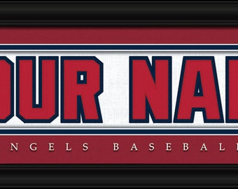 Los Angeles Angels MLB Framed Personalized Nameplate Baseball Sports  Home  Decor 22x6 Inches Free Shipping