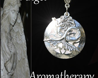 Essential Oil Diffuser Silver Mermaid Necklace Young Living Doterra Aromatherapy