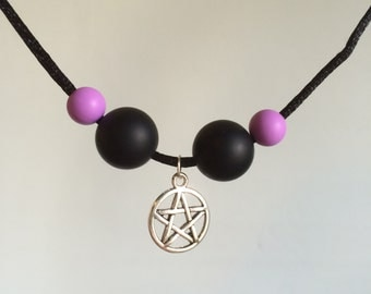 Pentacle/Pentagram Chewable bead Necklace Sensory Stimming