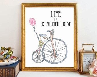 life is a beautiful ride christmas gift baby nursery wall art printable wall - Etsy Baby Room