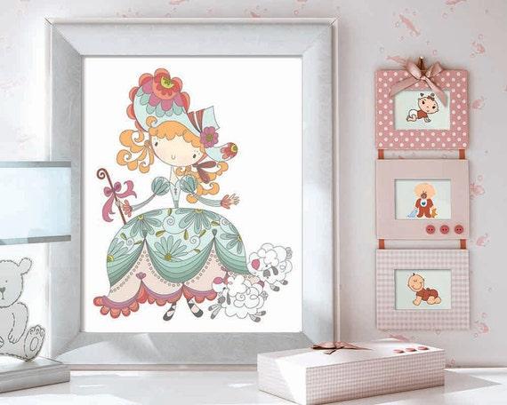 Etsy Girl Nursery Wall Decor : Items similar to nursery print christmas gift baby girls