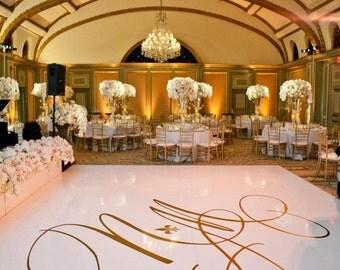 Wedding Dance Floor Removable Decal - Customizeable Monogram