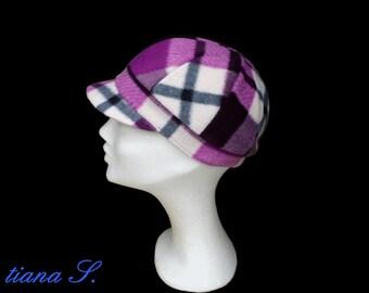 CAP, plaid purple black, size S