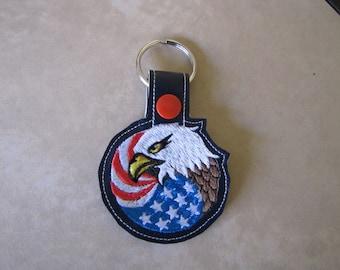 Eagle with Flag Key Fob