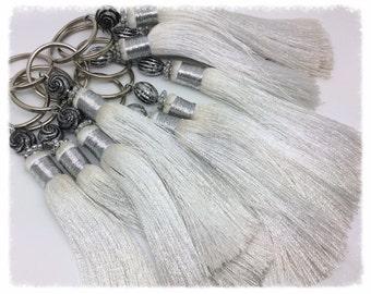 Pompom silk in charm white version