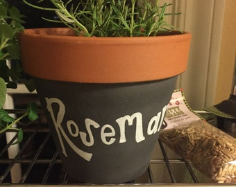 "Blackboard Pot ""Rosemary"""