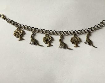 Brachiosaurus Dinosaur Charm Bracelet