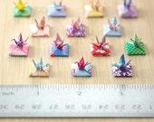 Itty Bitty Origami Crane with Menko