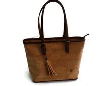 Handmade cork bag Yolanda style