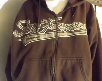 Vintage San Francisco Heavy Duty Zip-up Hoodie