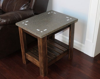 Concrete End Table (Simple Corners)