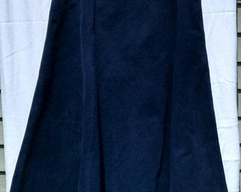 MODEST CORDUROY SKIRT, Navy Blue Corduroy Skirt, Long Winter Skirt, Warm Winter Skirt, Apostolic Christian Skirt, Apostolic Pentecostal Skir