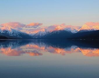 Alpenglow at Lake Mcdonald