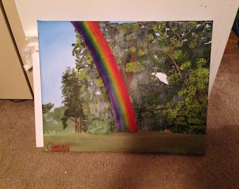 Rainbow in the woods