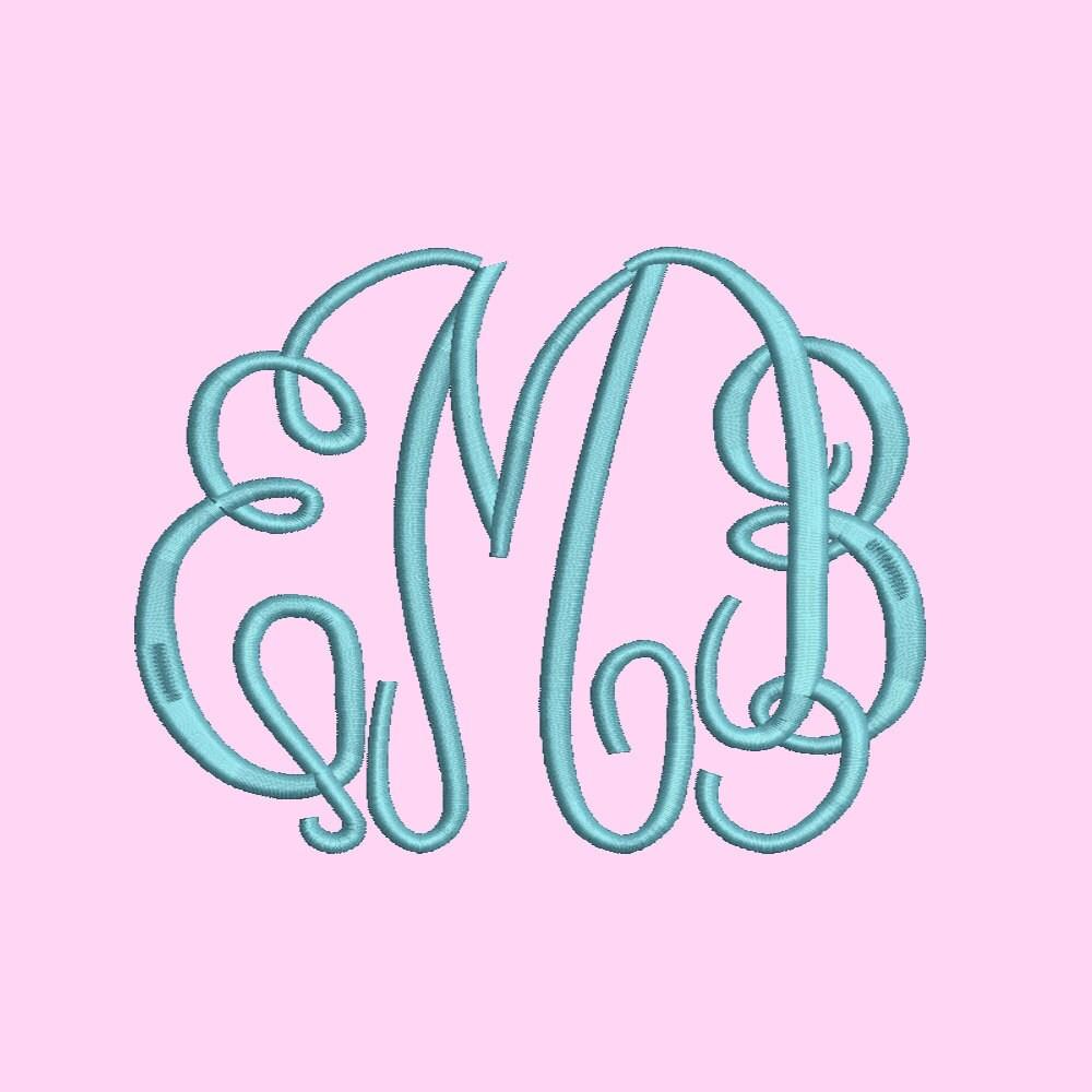 Sale size fancy monogram font embroidery designs bx
