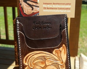 Handmade front pocket wallet with money clip