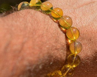 BAP489 Artisanal Dominican Amber Bracelet Mixed Colors