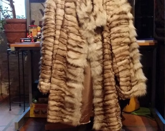 tails silver fox fur coat