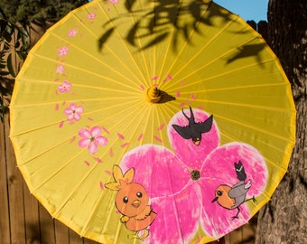 Hand Painted Parasol