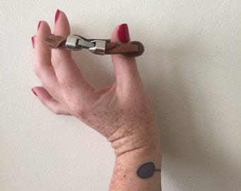 Leather wrapped bracelet