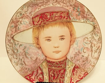 "1984 Edna Hibel ""Gerard"" Collector Plate"