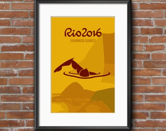 Rio Olympic Summer Games Poster