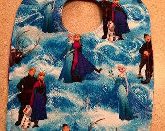 Frozen snap bib