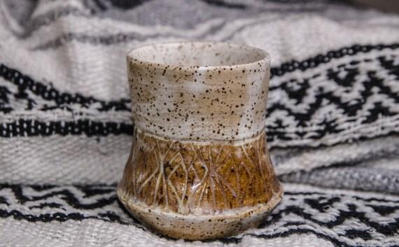 Speckled Carved Tumbler