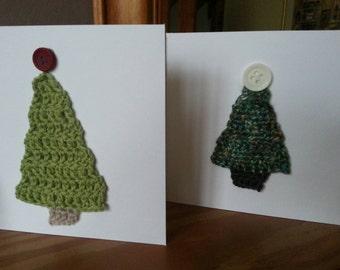Handmade Christmas Tree Christmas Cards