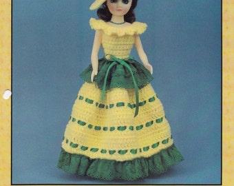 "Paulette 15/"" Fashion Doll Dress Crochet PATTERN//INSTRUCTIONS Leaflet"