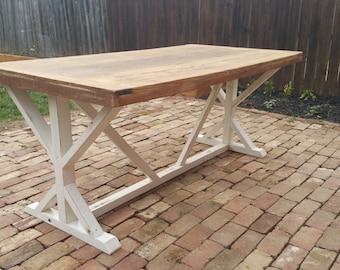 Handmade Trestle Table