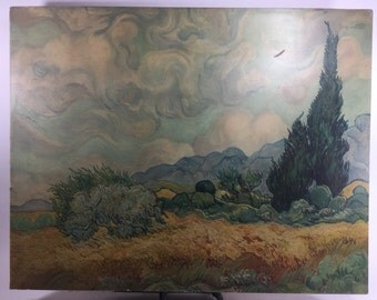 Vincent Van Gogh wheatfield with cypresses print 34in x 26in