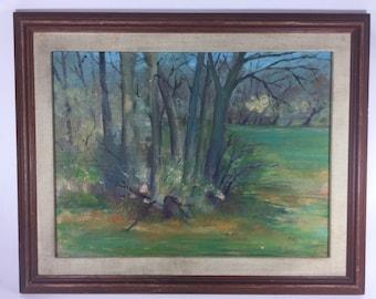 Wilbert Nieves oil painting- EdgedRock Woods. 14inX 18in
