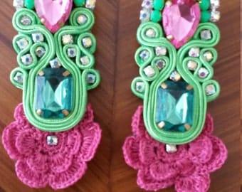Earrings spring Soutache