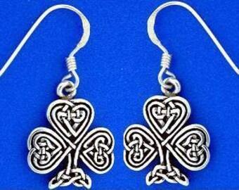 Celtic Knot Shamrock Earrings (RPEW6)