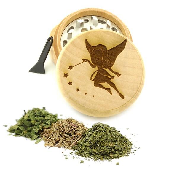 Fairy Engraved Premium Natural Wooden Grinder Item # PW61716-2