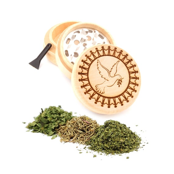 World Peace Engraved Premium Natural Wooden Grinder Item # PW91316-27