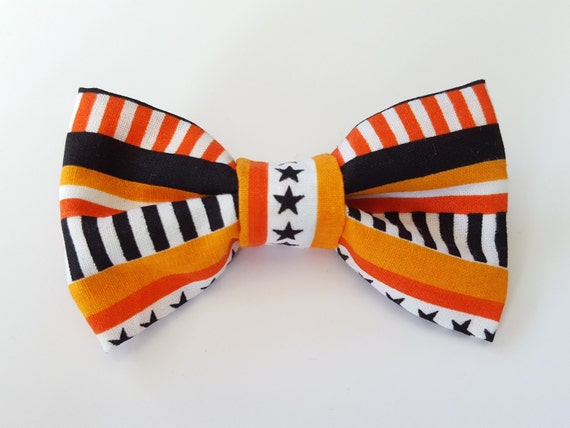 Fall Bow for Cat and Small Dog Collars, Matching Velcro Collar 100% Sales Donated to Feeding Feral Cats Read in Bio