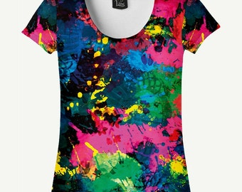 Spray T-shirt, Spray Shirt, Paint T-shirt, Paint Shirt, Women's T-shirt, Women's Shirt