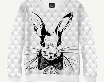Fairy Rabbit - Men's Women's Sweatshirt | Sweater - XS, S, M, L, XL, 2XL, 3XL, 4XL, 5XL