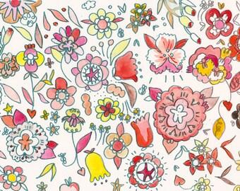 Flower pattern on paper