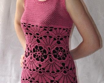 Вязаное платье ручной работы (крючек) /Knitted dress handmade (hook)