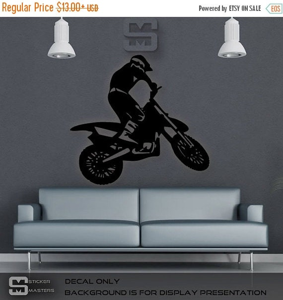on sale motocross wall sticker dirt bike decor by dirt bike wall decal champion sticker art decor bedroom design