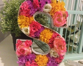 Floral Marquee Letter
