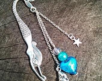 Mermaid Bookmark Blue