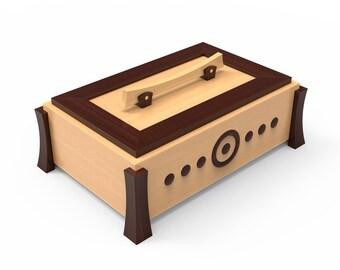 Pattern wooden toy box | Etsy