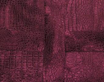 Plum Crocodile Velvet Tablecloth/Handmade Tablecloth/Outdoor Tablecloth