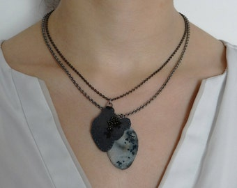 """Necklace """"Ghosts in the Sea""""#01020"""
